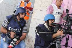 Reuters team cover clashes in the West Bank city of Hebron