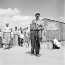 After the 1948 war, 35,000 refugees took shelter in the camp, having fled their homes during the hostilities. Most were from the Be'er Shevaa area (South of Palestine). *Courtesy of UN Photo