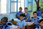 Back to School in Gaza Children in their classroom at a school run by the UN Relief and Works Agency for Palestine Refugees in the Near East (UNRWA), on the first day of the school year. source UN multimedia archive