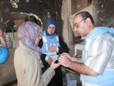 new health points to provide urgently required services to a population dispersed by conflict. Yarmouk, Damascus, July 2014 soruce : UN multimedia archive