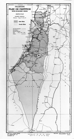 A map of historical Palestine - UN Photo/ 1947