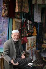 An old man sitting infront of his shop in one of Jerusalem's old markets - Eyad Jadallah/ 2012