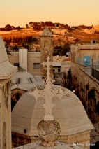 The mount of olives in Jerusalem in the background - Ameer Qaimari/ 2012