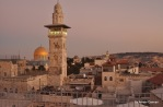 A picture of the dome of the rock in the old city of Jerusalem - Ameer Qaimari/ 2014