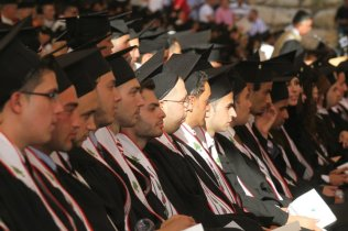 Graduation day in Birzeit university 2010. photo courtesy of Birzeit university. 2010