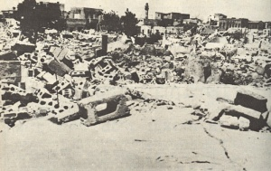 Ruins of Lod after Israeli Offensive, 1948 (UN Photo).